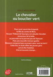 Le chevalier au bouclier vert - 4ème de couverture - Format classique