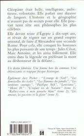 Cleopatre reine du nil - 4ème de couverture - Format classique