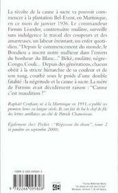 Commandeur Du Sucre T.1 - 4ème de couverture - Format classique