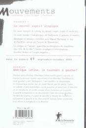 Revue mouvements numero 45/46 le nouvel esprit utopique - 4ème de couverture - Format classique