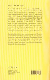 Traité de soufisme, les maîtres et les étapes - 4ème de couverture - Format classique