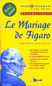 Le mariage de Figaro, de Beaumarchais - Intérieur - Format classique