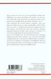 L'Art Interieur Du Travail - 4ème de couverture - Format classique
