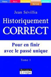 Historiquement correct t.1 - Couverture - Format classique