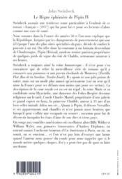 Le regne ephemere de pepin iv - 4ème de couverture - Format classique