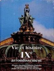 Vie et histoire ix arrondissement paris - Couverture - Format classique