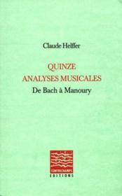 Quinze Analyses Musicales - Couverture - Format classique