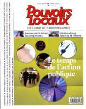 Revue Pouvoirs Locaux N.80 ; Le Temps De L'Action Publique - Couverture - Format classique
