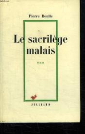 Le Sacrilege Malais. - Couverture - Format classique