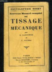 Tissage Mecanique - Encyclopedie Roret - Couverture - Format classique
