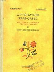 Litterature Francaise - Couverture - Format classique