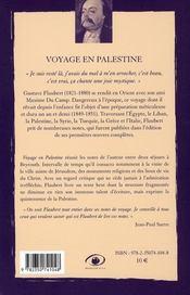 Voyage en Palestine - 4ème de couverture - Format classique