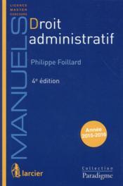 Droit administratif (19e édition) - Couverture - Format classique