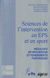 Sciences de l'intervention en eps et sport