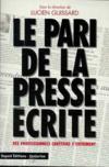 Pari De La Presse Ecrite