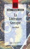 Hu Langues Anciennes ; La Littérature Grecque