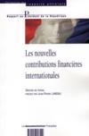 Les nouvelles contributions financieres internationales