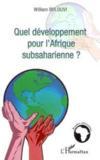 Quel développement pour l'afrique subsaharienne ?