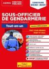 Conours sous-officier de gendarmerie ; externe, interne, 3° voie ; catégorie B ; tout-en-un
