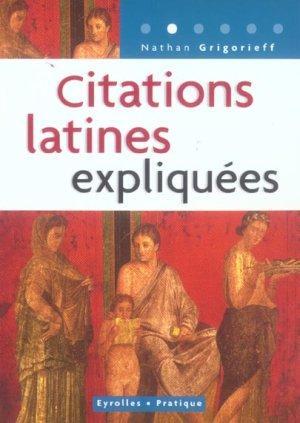 Citations Latines Expliquees - Intérieur - Vignette