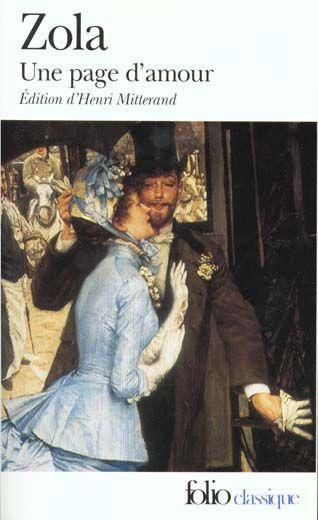 Une Page D Amour Emile Zola Emile Zola Livre France