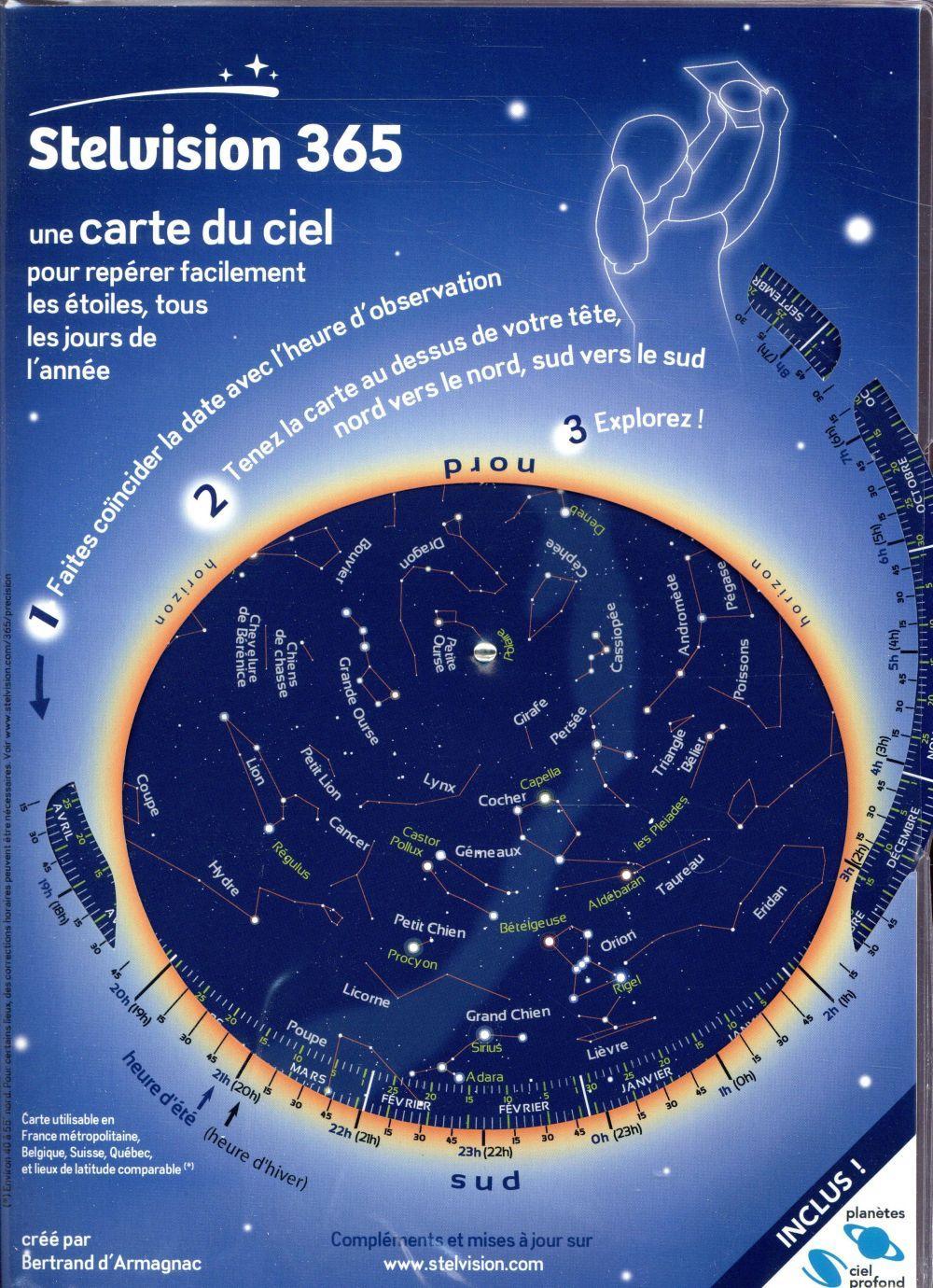 stelvision carte du ciel Stelvision 365 ; une carte du ciel pour repérer facilement les