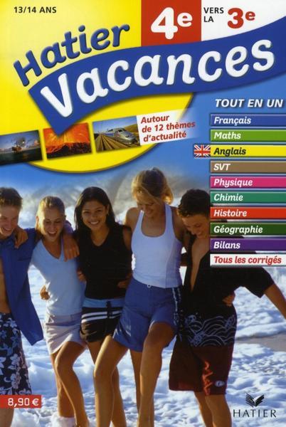 Hatier Vacances De La 4eme Vers La 3eme 13 14 Ans