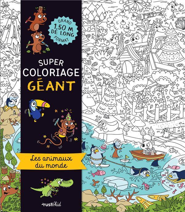Super Coloriage Geant Les Animaux Du Monde Elodie