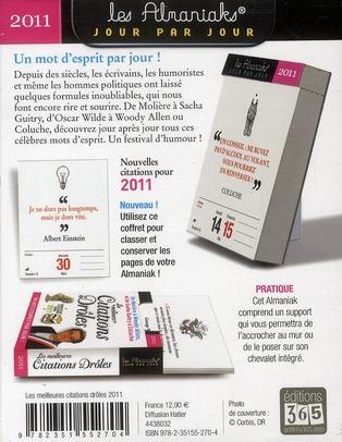 Livre - Les meilleures citations drôles (éditions 2011) - Collectif