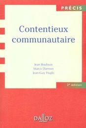 Contentieux Communautaire - 2e Ed. - Intérieur - Format classique