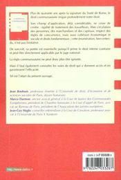 Contentieux Communautaire - 2e Ed. - 4ème de couverture - Format classique