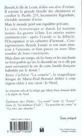 La couree - tome 3 benoit - vol03 - 4ème de couverture - Format classique