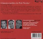 6 histoires inédites du Petit Nicolas - 4ème de couverture - Format classique