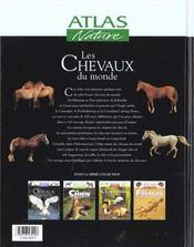 Atlas Nature ; Les Chevaux Du Monde - 4ème de couverture - Format classique