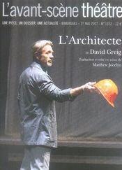 Revue L'Avant-Scene Theatre N.1222 ; L'Architecte - Intérieur - Format classique