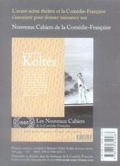 Revue L'Avant-Scene Theatre N.1222 ; L'Architecte - 4ème de couverture - Format classique