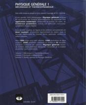 Physique générale t.1 - 4ème de couverture - Format classique