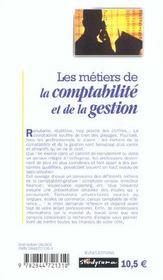 Metiers de la comptabilite gestion (les) 2e edition - 4ème de couverture - Format classique