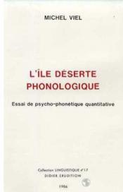 Ile deserte phonologique (l') - Couverture - Format classique