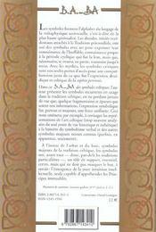 Symboles celtiques - 4ème de couverture - Format classique