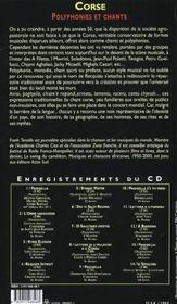 Corse + cd audio - 4ème de couverture - Format classique