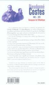 Dieudonné Costes, 1892-1973 ; vainqueur de l'Atlantique - 4ème de couverture - Format classique