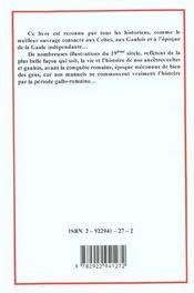 La Gaule Celtique - 4ème de couverture - Format classique