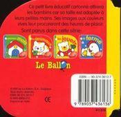 Bambinos 1-3 Ans ; Les Animaux - 4ème de couverture - Format classique
