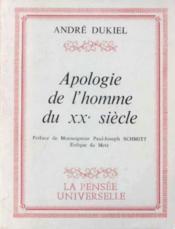 Apologie de l'homme du XXe siècle - Couverture - Format classique