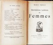 Dernières Lettres de Femmes - Couverture - Format classique
