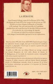 La Pérouse (2e édition) - 4ème de couverture - Format classique