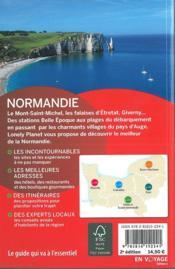 Normandie (2e édition) - 4ème de couverture - Format classique