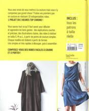 Les indispensables robes ; 10 modèles faciles ; 1 projet en 2h - 4ème de couverture - Format classique
