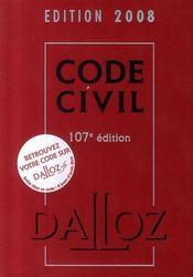 Code civil (édition 2008) - Intérieur - Format classique